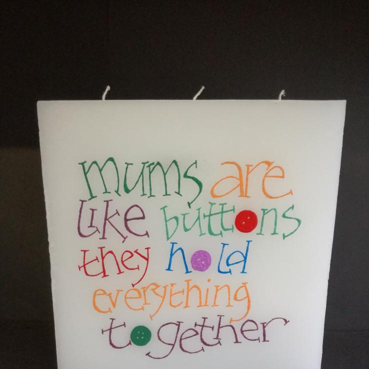 Kaarsen voor moederdag Schrijfbaar
